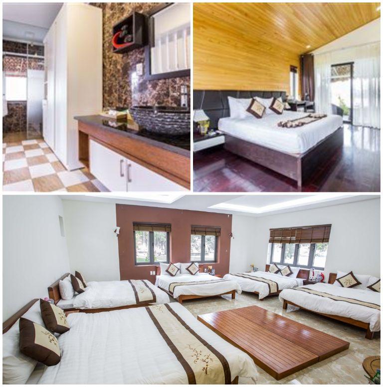 Phòng ngủ tại resort Đại Lải