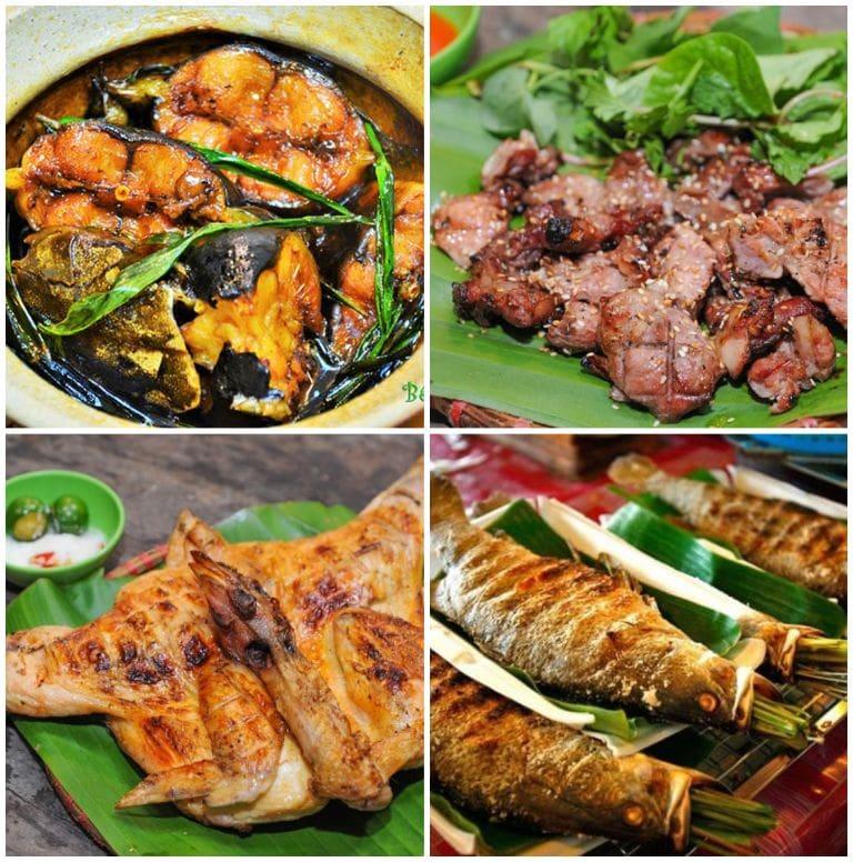 Đồ ăn tại resort Đảo Ngọc