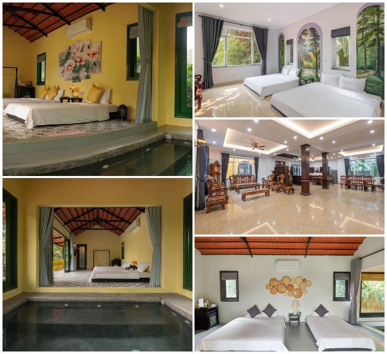 Phòng ngủ tại resort Sóc Sơn