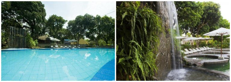 Bể bơi vô cực tại resort Tản Đà