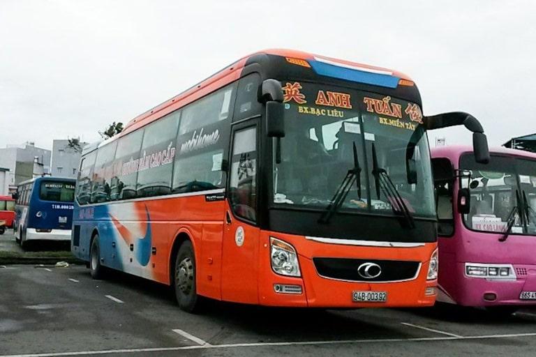 xe khách Sài Gòn Bạc Liêu Anh Tuấn